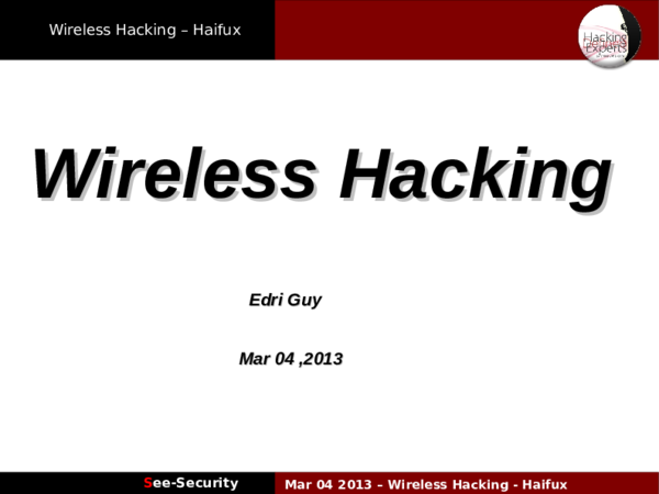 PDF) Haifux wireless hacking | Shinn Shinn - Academia edu