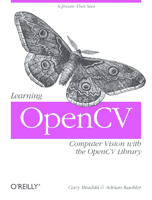 PDF) OpenCV by O'Reilly (most comprehensive book) | Sai