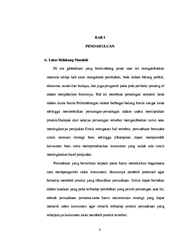 Pdf Proposal Komplit Manajemen Pemasaran Redaktur Wau Academia Edu
