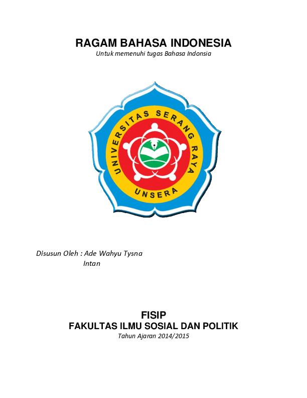 Doc Makalah Bahasa Indonesia Ragam Bahasa Dewa Tysna Academia Edu