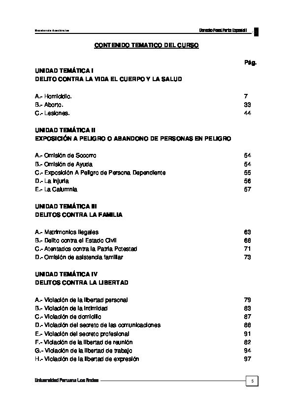 (PDF) MANUAL DE DERECHO PENAL PARTE ESPECIAL I | Luis