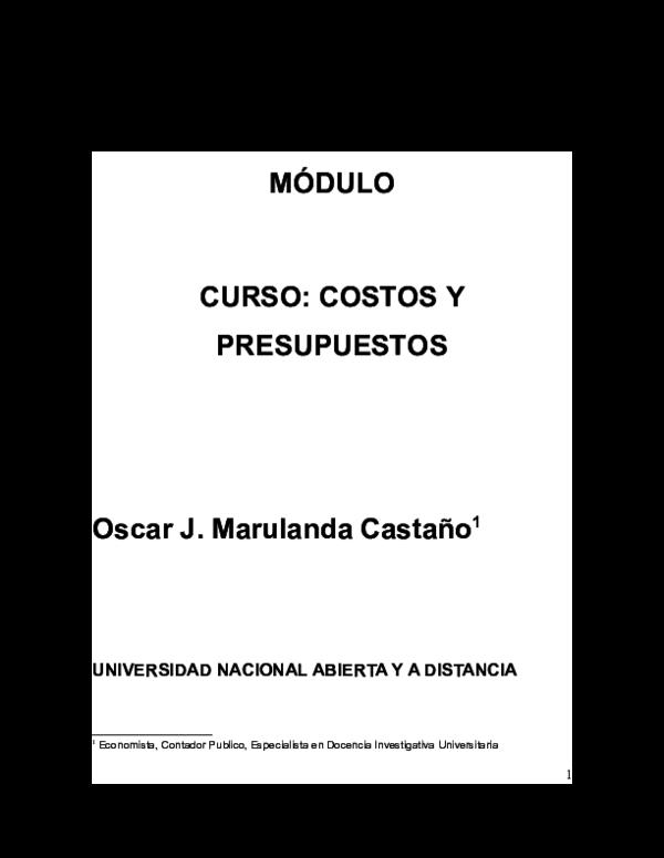 Pdf Módulo Curso Costos Y Presupuestos Astrid Vasquez