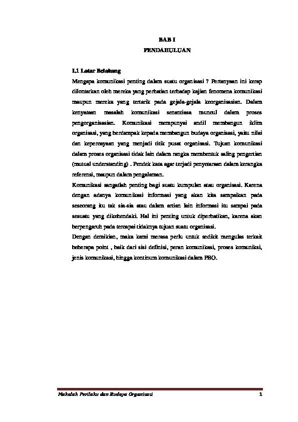 Doc Makalah Tentang Komunikasi Badrus Hartono Academia Edu