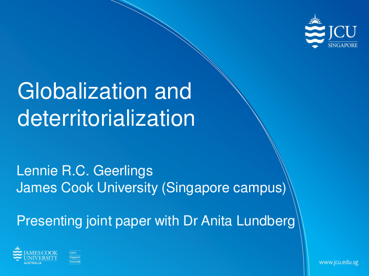 PDF) Globalisation and deterri...