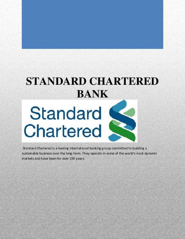PDF) STANDARD CHARTERED BANK | Hafiz Islam - Academia edu
