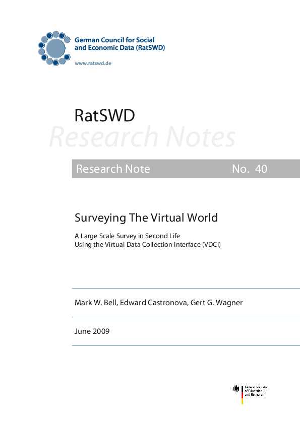 PDF) Surveying The Virtual World  A Large Scale Survey in