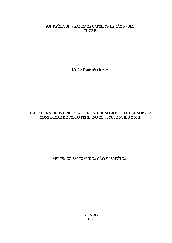 e74694a71 PDF) O CORSET NA MODA OCIDENTAL  UM ESTUDO SOCIOSSEMIÓTICO SOBRE A ...