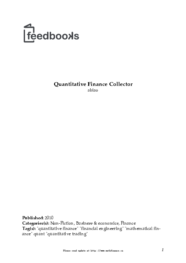 PDF) Quantitative Finance Collector | biao guo - Academia edu