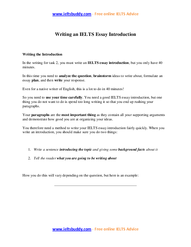 How to write a good essay introduction pdf
