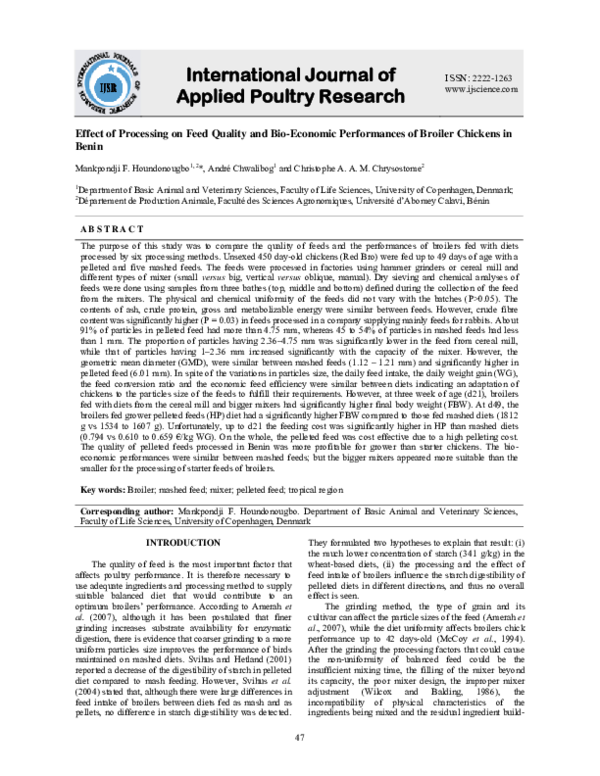 PDF) International Journal of Applied Poultry Research