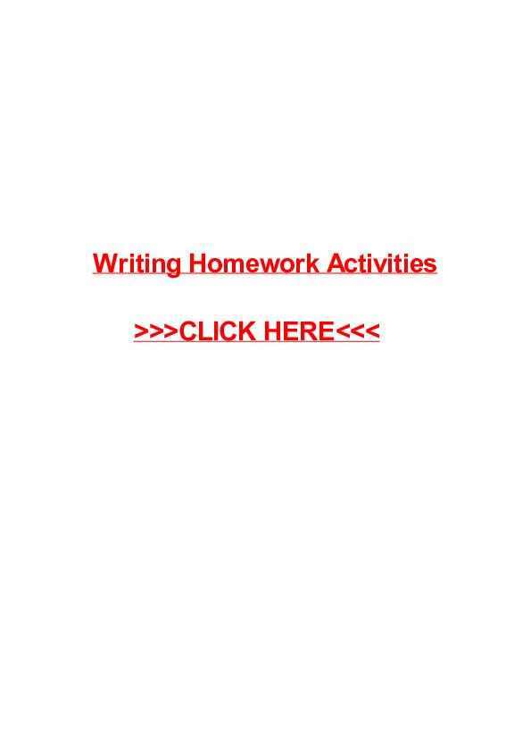 Writing Homework Activities   Merri Dale - Academia edu