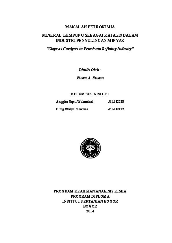 Doc Makalah Petrokimia Cp1 Anggita Eling Anggita Septi Wulandari Academia Edu