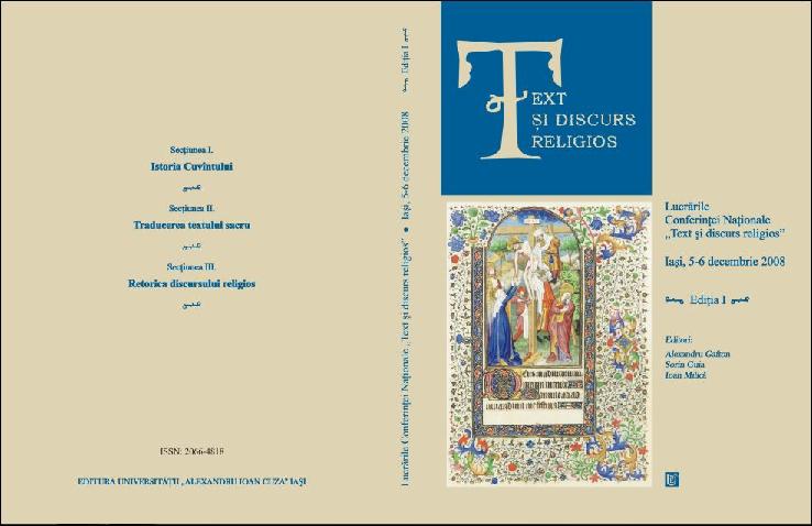 Pdf Text și Discurs Religios Nr 12009 Ioan Milică Academiaedu