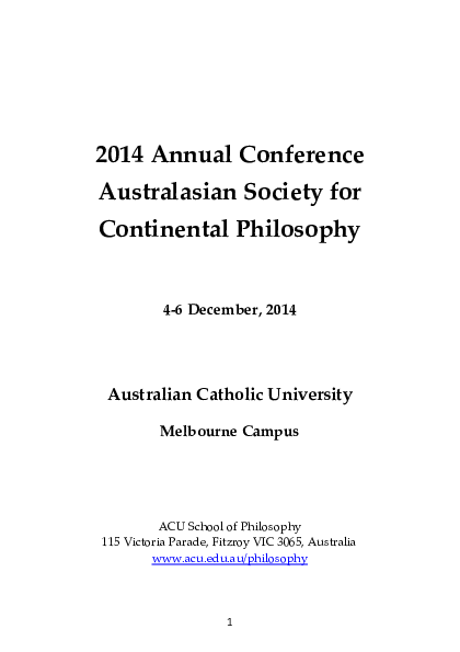 PDF) ASCP Conference Paper (Melbourne, 2014): Bataille and