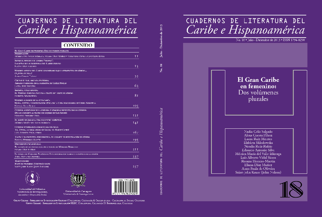20f58513b6 PDF) Cuadernos de Literatura del Caribe e Hispanoamérica no. 18. El ...