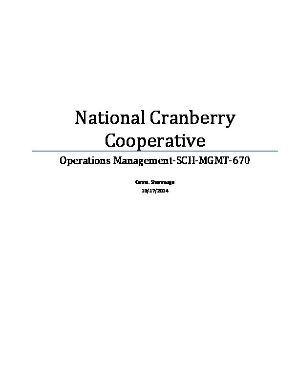 cranberry cooperative