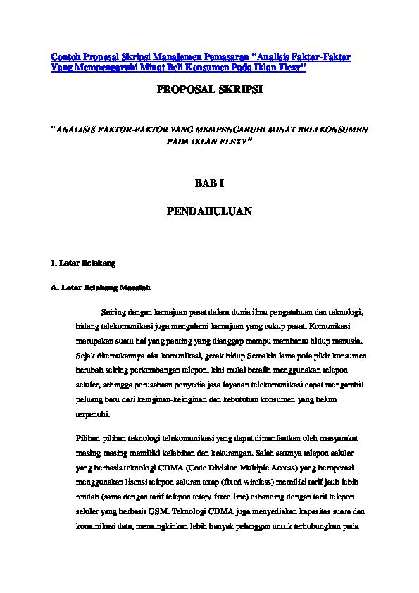 Contoh Skripsi Manajemen Contoh Soal Dan Materi Pelajaran 2