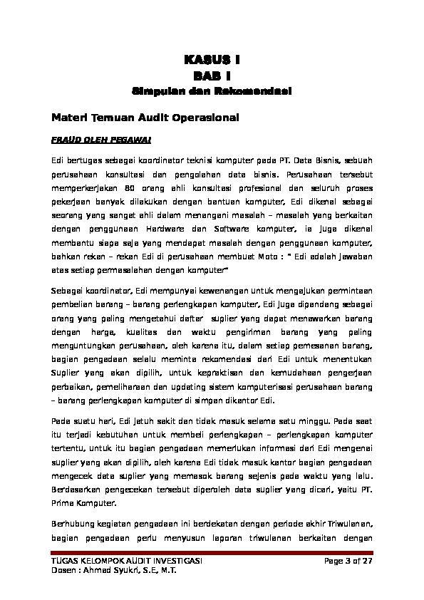 Doc Kasus I Bab I Putri Mentari Academia Edu