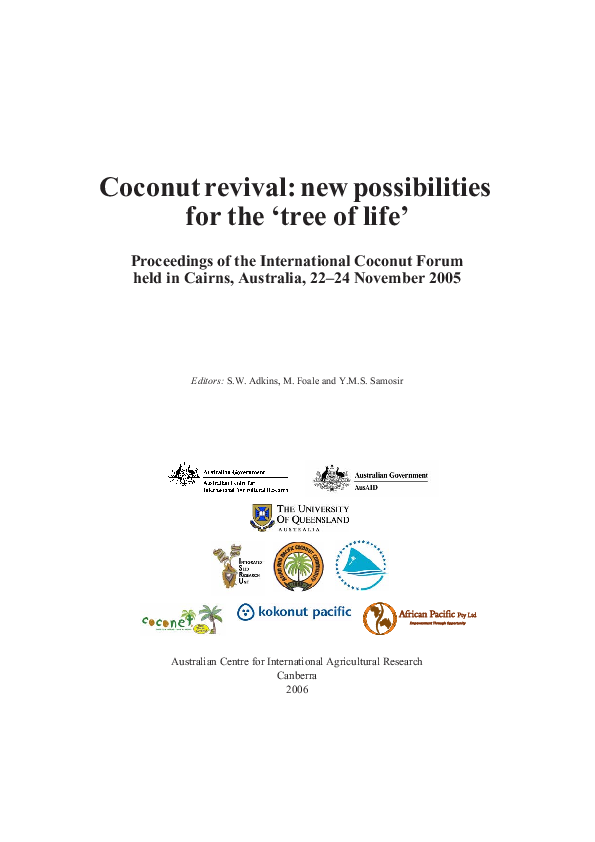 PDF) Coconut revival: new possibilities for the 'tree of life