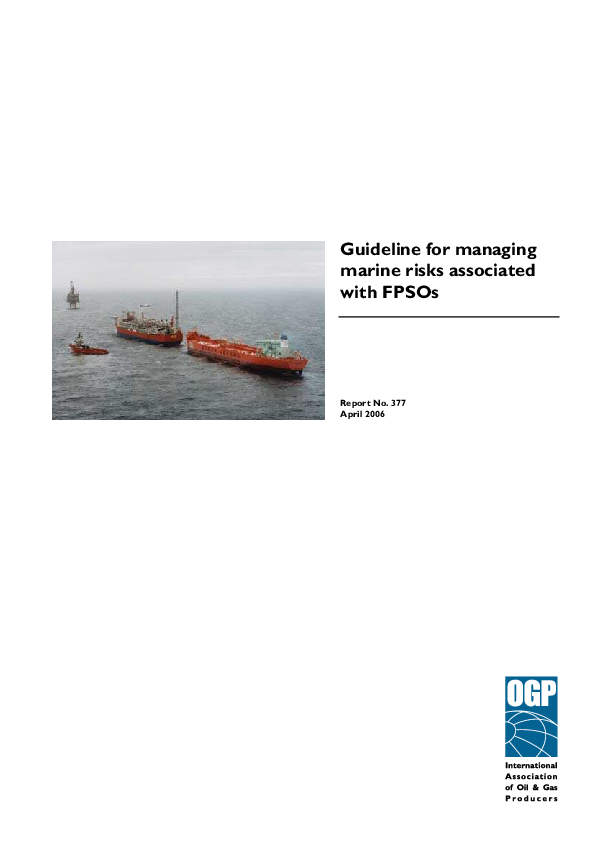PDF) Guideline for managing marine risks associated with