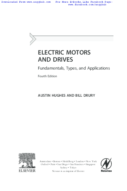 PDF) Electric Motors and Drives Fundamentals, Types and Applications
