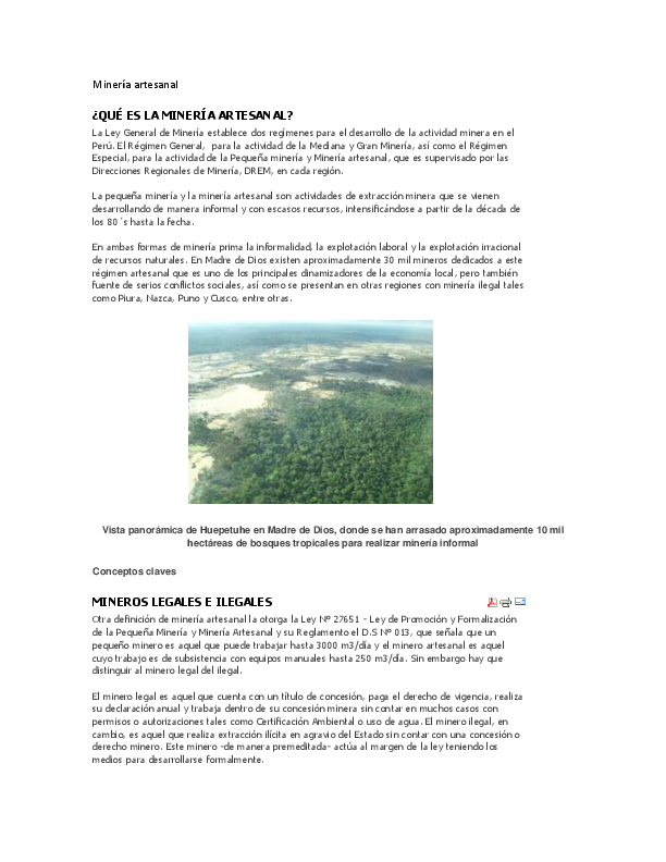 Doc Mineria Artesanal Que Es La Mineria Artesanal Jhojan Cm