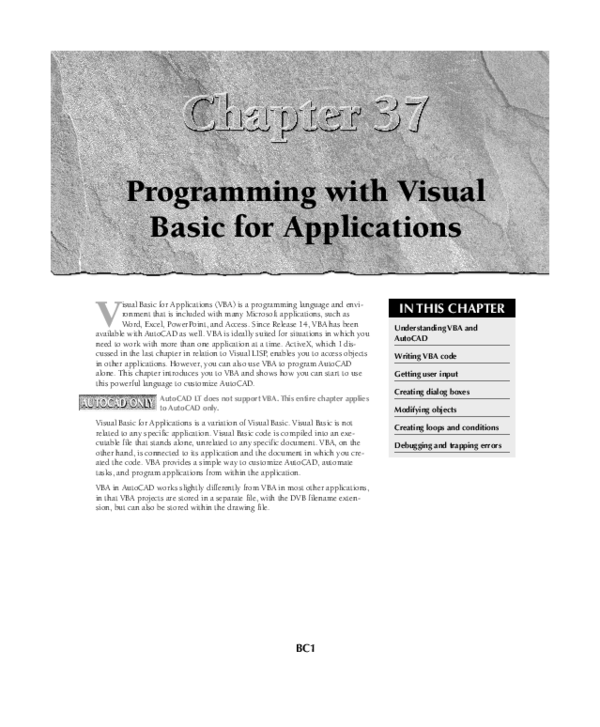 PDF) Programming with Visual Basic for Applications | Abdur