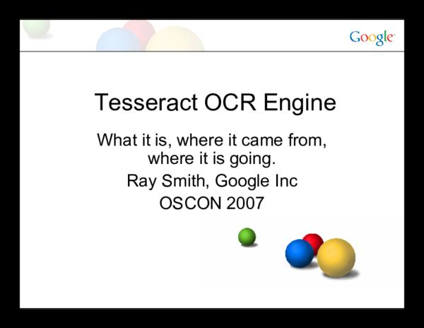 PDF) Tesseract OCR Engine Contents | Thành Tâm Ngô