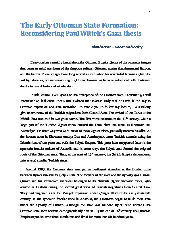 ghazi thesis wittek