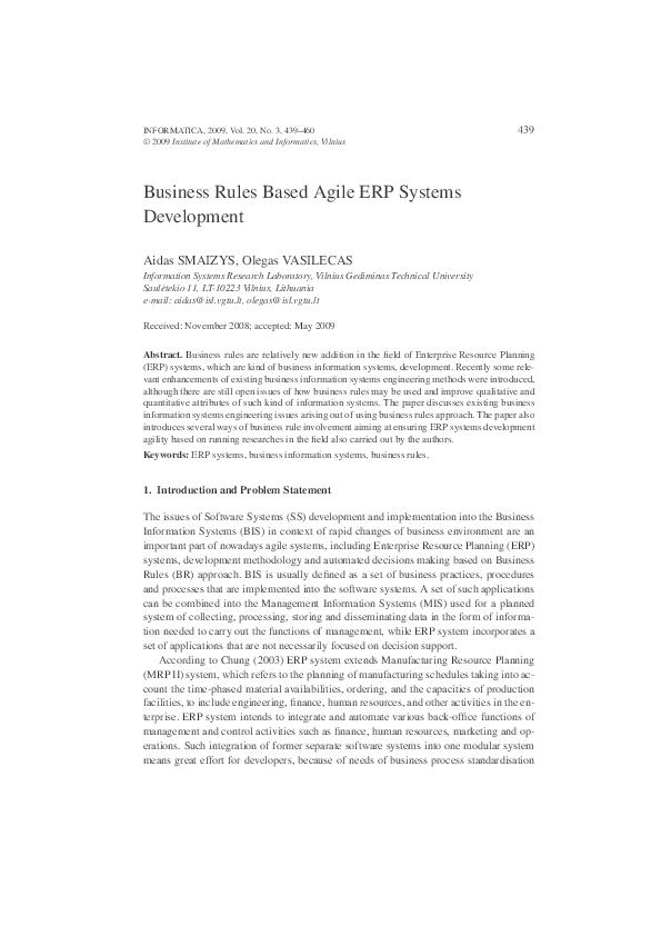 Pdf development agile rule business