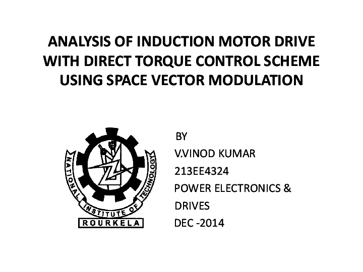 (PPT) DIRECT TORQUE CONTROL OF INDUCTION MOTOR (PPT