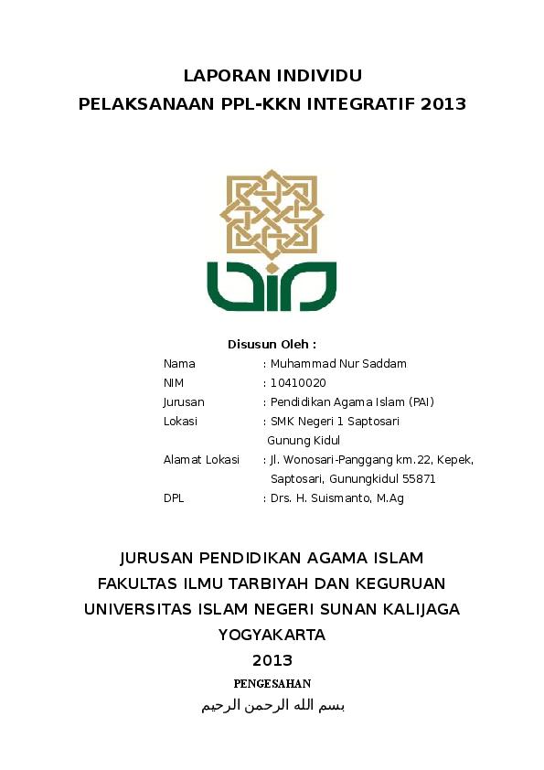 Doc Laporan Individu Ppl Kkn Chichi Aisyatud Da Watiz Zahroh Academia Edu