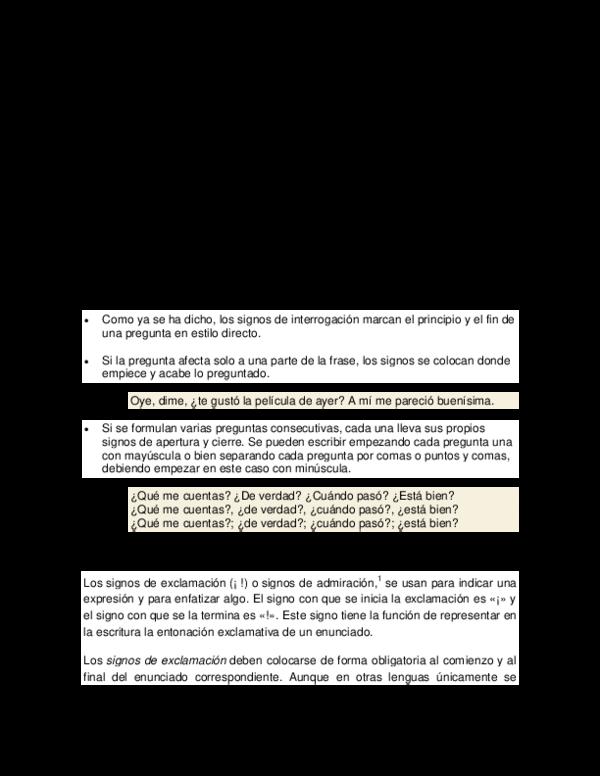 Doc Uso De Los Signos De Interrogacion Yune Bracho