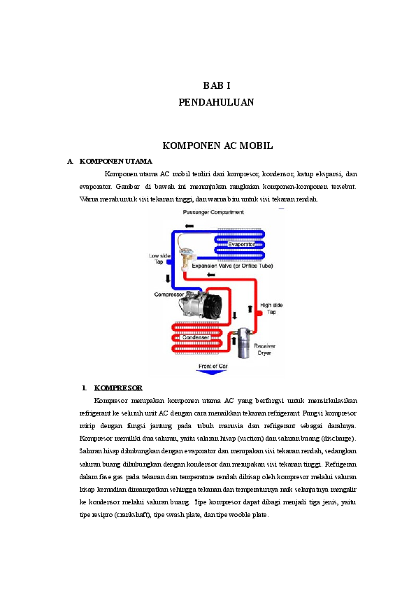 Bab I Pendahuluan Komponen Ac Mobil Khoirul Anwar Academiaedu