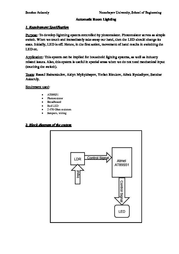 Phenomenal Pdf Project 3 Automatic Room Lighting System Sanzhar Askaruly Wiring Database Aboleterrageneticorg