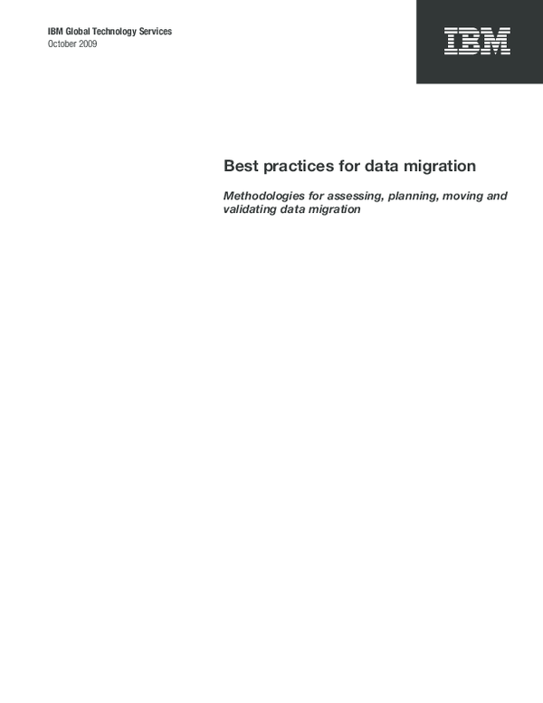 PDF) IBM Global Technology Services Best practices for data