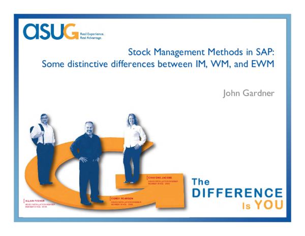PDF) Stock Management Methods in SAP: Some distinctive differences