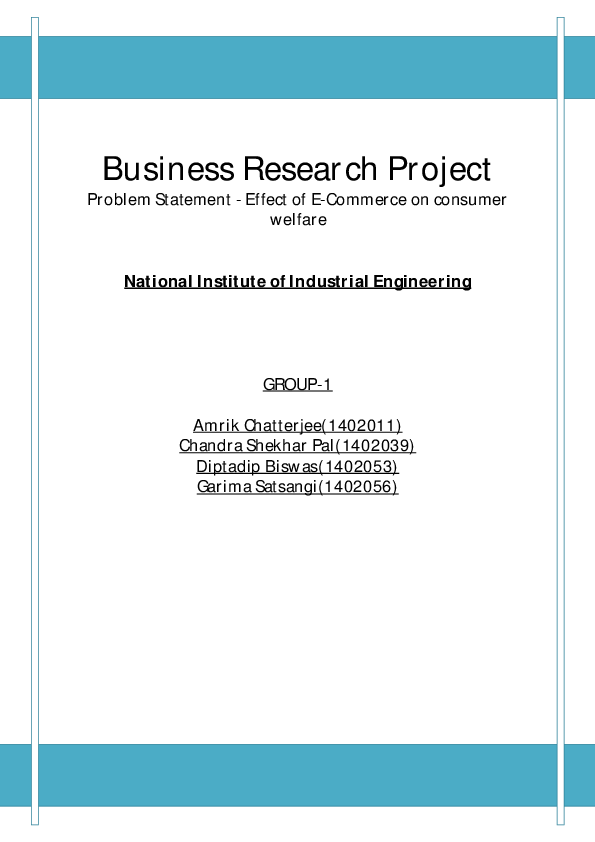 business research problem