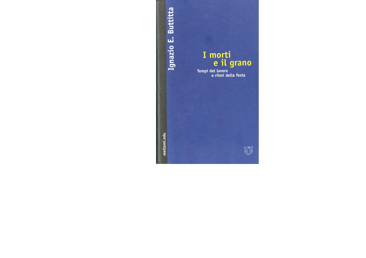 PDF) I morti e il grano. Tempi del lavoro e ritmi della festa ... 1cdb8ff55526