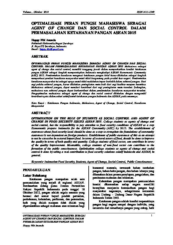 contoh essay peran mahasiswa dalam mewujudkan kemandirian pangan di indonesia