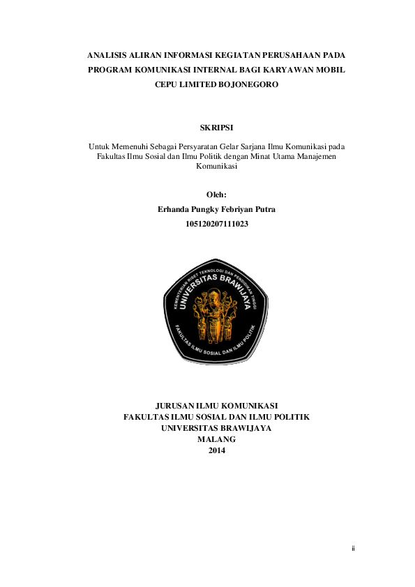 Pdf Analisis Aliran Informasi Kegiatan Perusahaan Pada Program Komunikasi Internal Bagi Karyawan Mobil Cepu Limited Bojonegoro Skripsi Erhanda Pungky Academia Edu