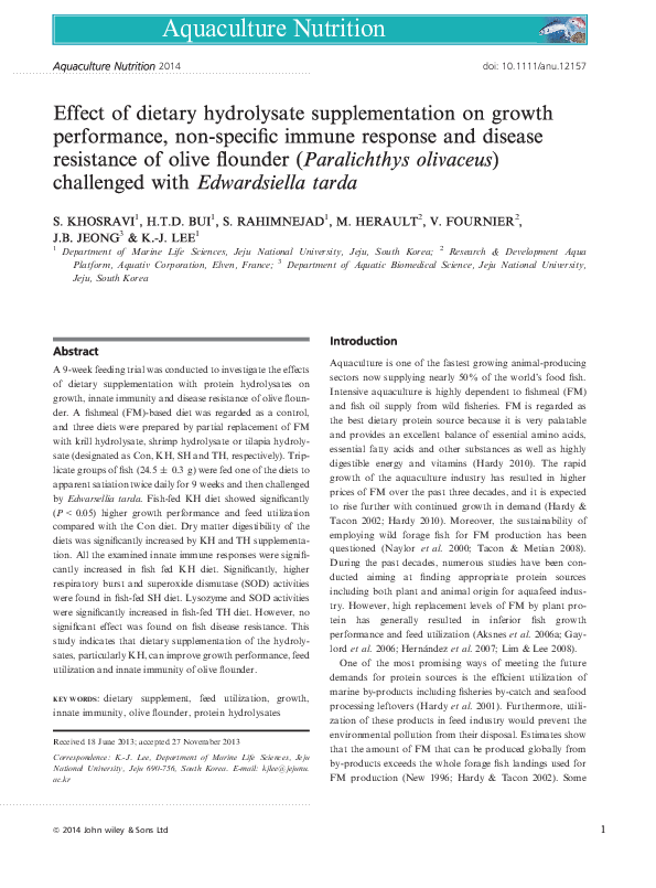 Pdf Effect Of Dietary Hydrolysate Supplementation On Growth Performance Non Specific Immune Response And Disease Resistance Of Olive Flounder Paralichthys Olivaceus Challenged With Edwardsiella Tarda Samad Rahimnejad Academia Edu Olive flounder can only be caugt on the lighthouse dock in fall or winter in the morning and evening, you have to use atleast excellent bait but delectable bait is better. academia edu