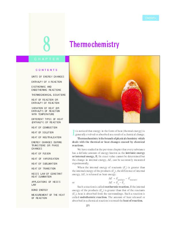 PDF) Chapter 8 Thermochemistry | Sofia Khan - Academia edu