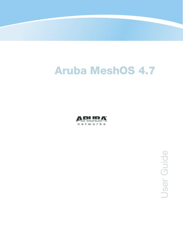 PDF) Aruba MeshOS 4 7 | uday jani - Academia edu