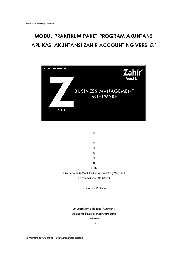 Pdf Zahir Accounting Modul Praktikum Paket Program Akuntansi Aplikasi Akuntansi Zahir Accounting Versi 5 1 Azka Arslan Academia Edu