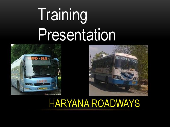 haryana roadways driver training school status