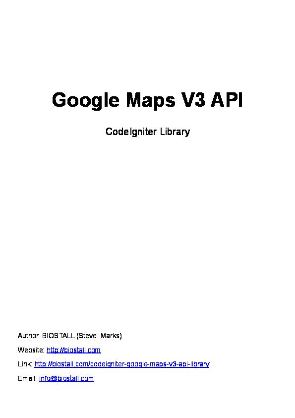 Google Maps Api Pdf