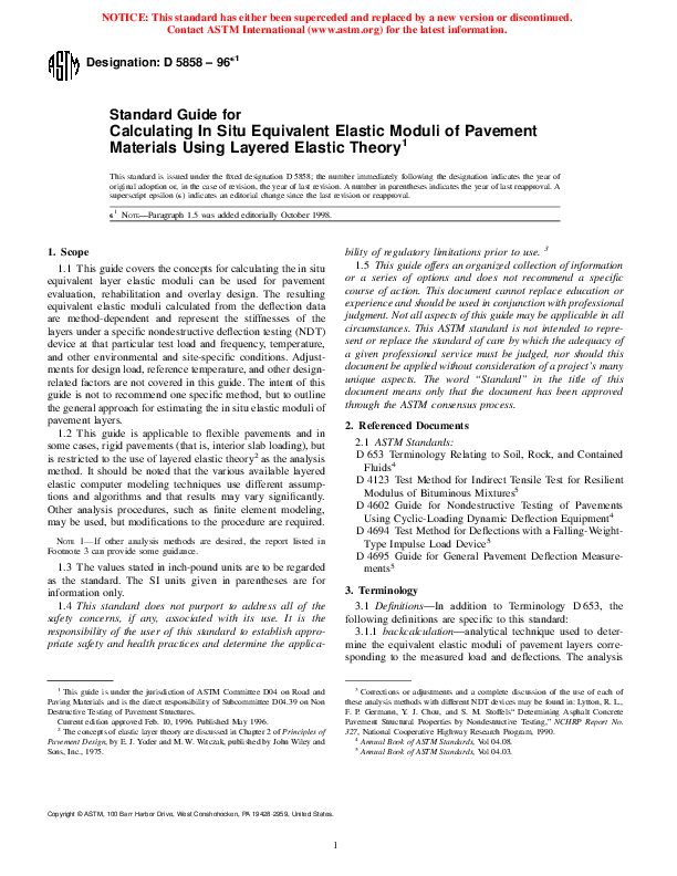 PDF) Designation: D 5858 – 96 Standard Guide for Calculating
