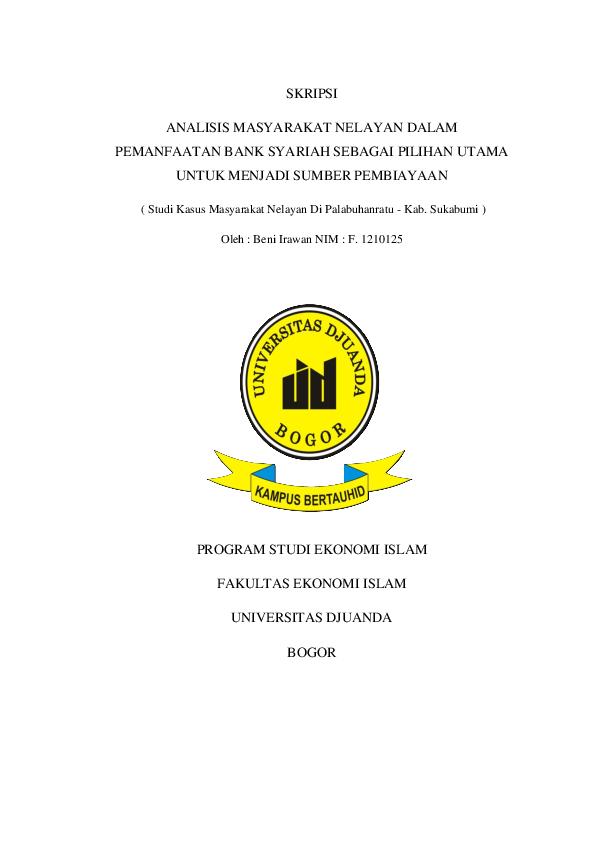 Doc Skripsi Analisis Masyarakat Nelayan Dalam Pemanfaatan Bank
