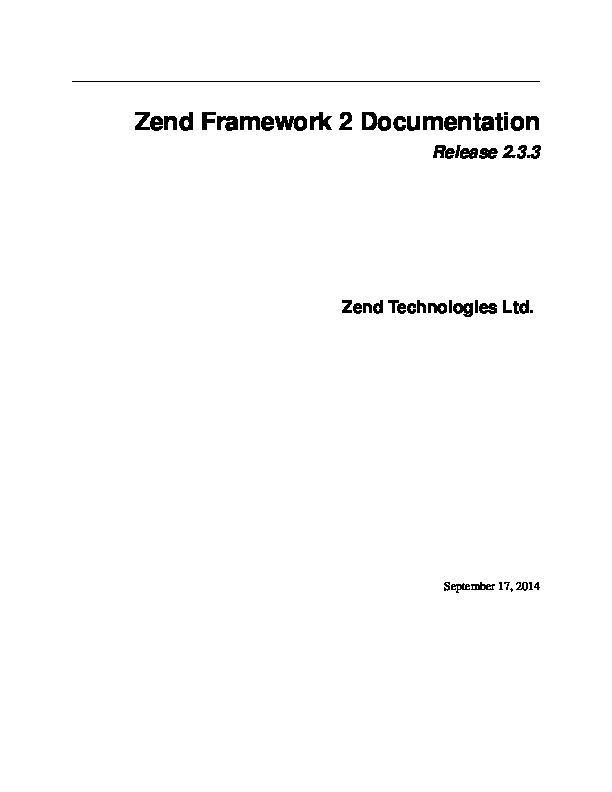 Zend Framework 1 Example Project